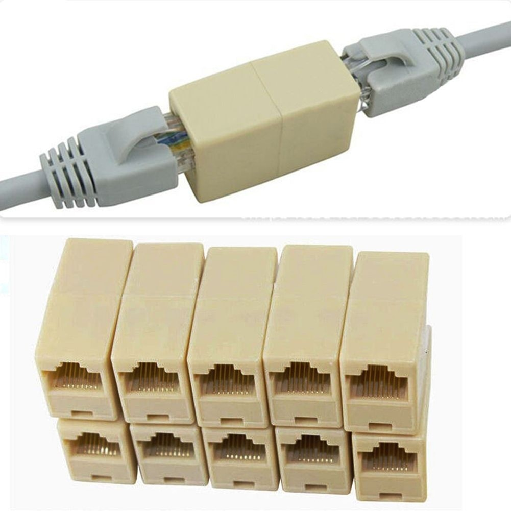 Acoplador de Cable de red Ethernet, Conector de Cable extensor de doble...