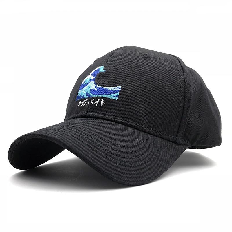 2020 Unisex Adjustable Sea Wave Embroidery Baseball Cap Hats Cotton Japan Hokusai Caps Kanagawa Surf Snapback Dad Hats Gorras