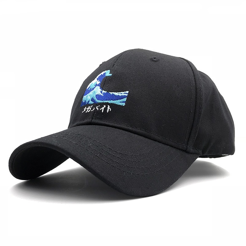 2020 Unisex ajustable mar onda bordado gorra de béisbol sombreros de algodón Japón Hokusai tapas Kanagawa Surf sombreros Snapback de papá, Gorras
