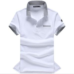 ZNG 2020  Mens Polo Shirts Breathable Cotton Short sleeve Man Wide-waisted Turn-down Collar Tees Shirt Plus Size