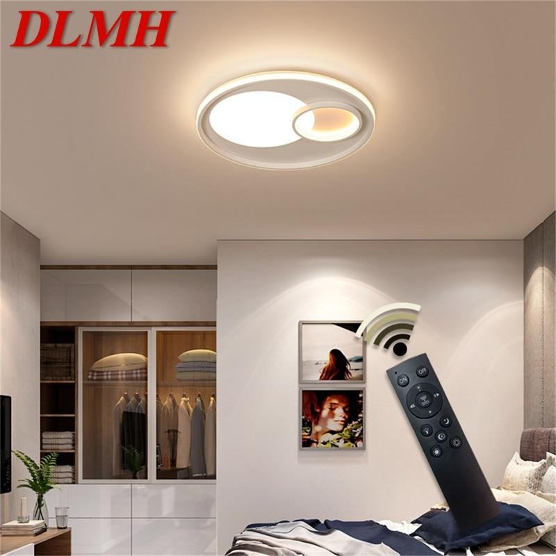dlmh luminarias de teto com controle remoto regulavel 220v 110v moderno decorativo