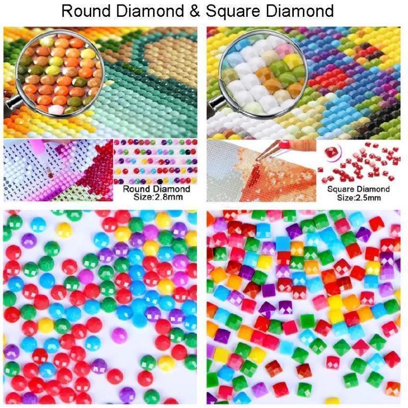 5D DIY Diamond Cartoon Couples Cross Stitch Diamond Embroidery Mosaic Diamond Home Decor Valentine's Day Lover Birthday Gift