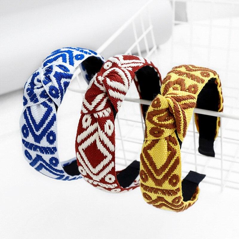 Armure cheveux accessoire Plaid bandeau noeud bandeau bandeau cheveux bandeau accessoire de cheveux pour les filles
