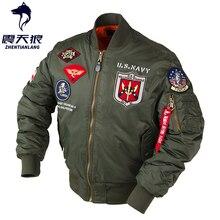 Manteaux militaires Vintage pour hommes, streetwear, vêtements militaires punk MA 1, veste de pilote de vol pour les bombardiers, mince et épais, collection dhiver 2020
