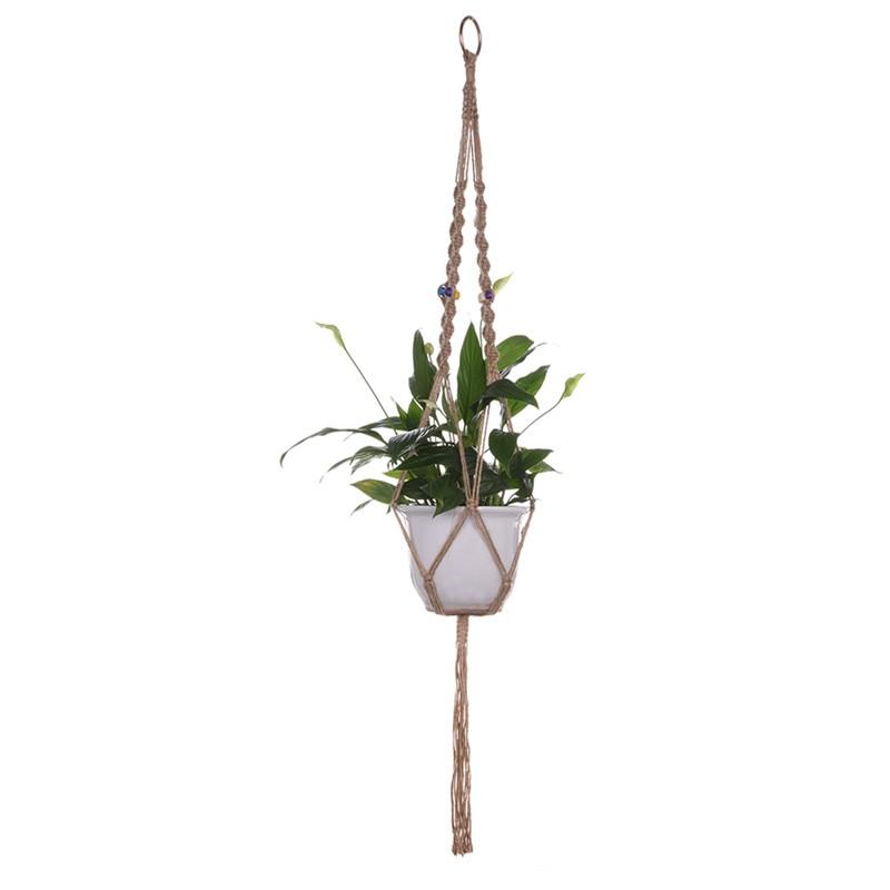 1pc velika košara za rastlinske obešalnike, ročno izdelana vrvna - Vrtne potrebščine - Fotografija 3