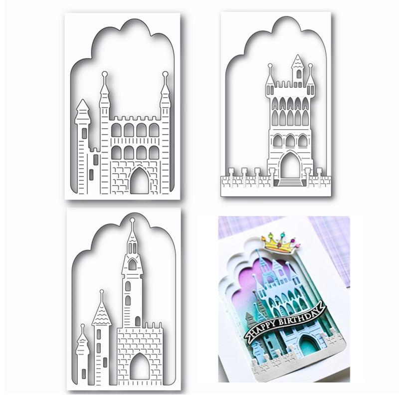 2021 New Arrival Metal Cutting Dies Scrapbooking Layering Castle Album Halloween Decorat Stencil Frame Card Craft No Clear Stamp