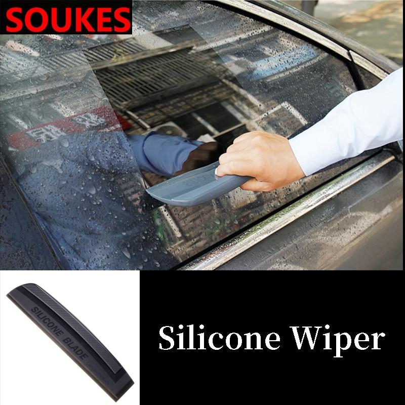 Limpiador de lavado de coche Placa de cuchilla de vidrio limpiador de cepillo para Mini Cooper Chevrolet Cruze Aveo Lacetti asiento de Iza Mazda 3 6 CX-5 CX 3 5
