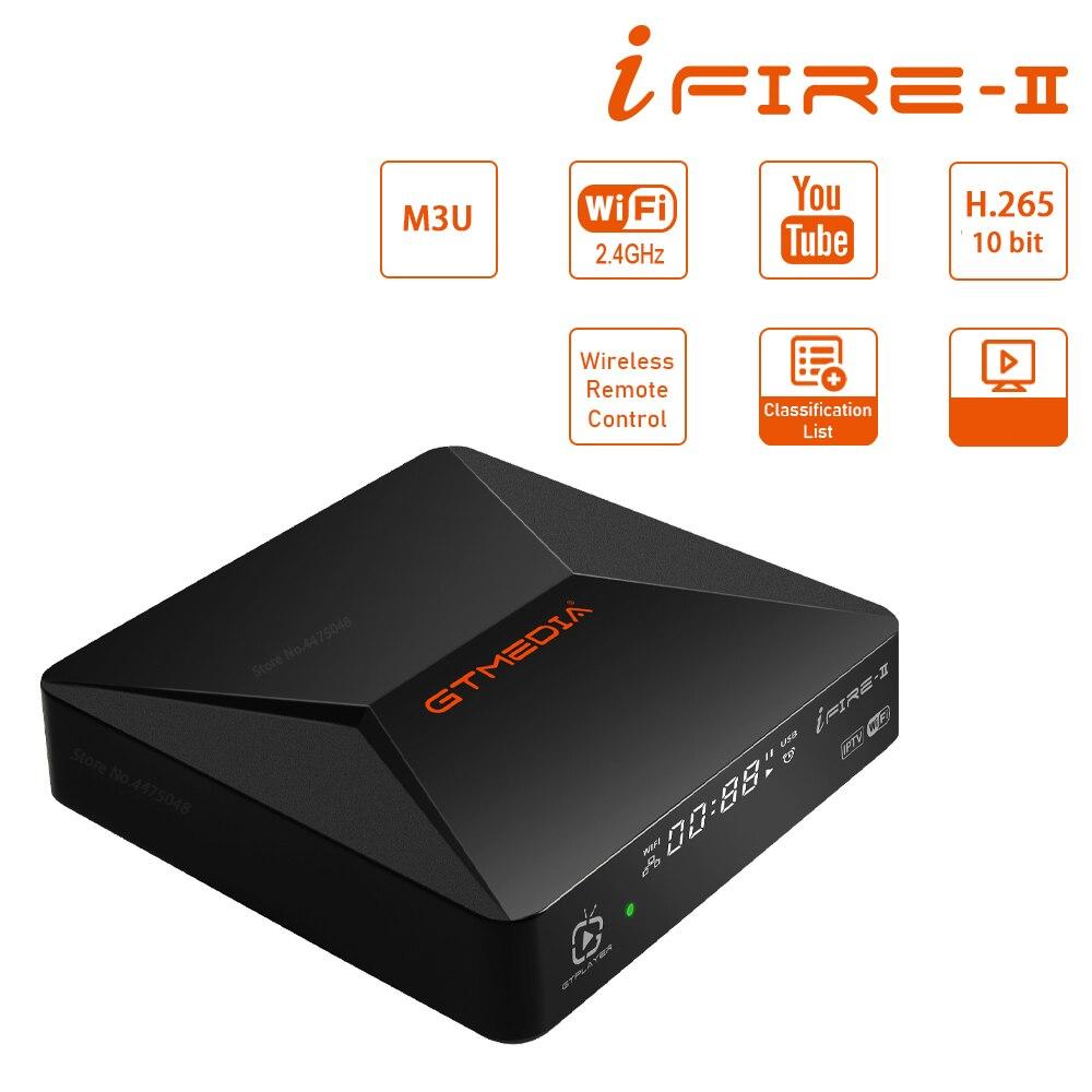 جديد قمة مجموعة صندوق GTMEDIA Ifire 2 H.265/HEVC 10 بت/بنيت في 2.4G واي فاي/بلوتوث التحكم عن بعد/الإنترنت الأفلام عبر الإنترنت M3U صندوق التلفزيون
