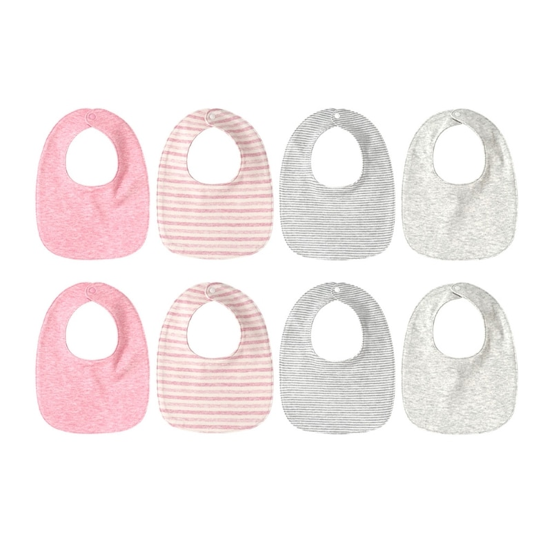 8 Pcs Baby Feeding Bibs Infants Shower Gifts Soft Cotton Saliva Towel Toddler Newborn Burp Cloth