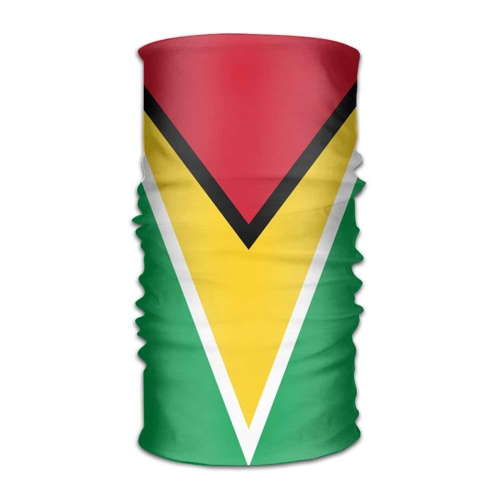 Xicoltd bandeira da guiana unisex esporte ao ar livre lenço bandana máscara pescoço gaiter cabeça envoltório sweatband headwear