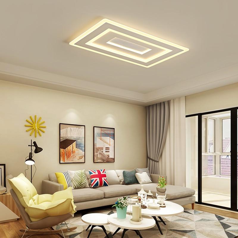Lámparas de techo LED Moodern para sala de estar dormitorio lustre de plafond luminaria moderna plafonnier lámpara de techo