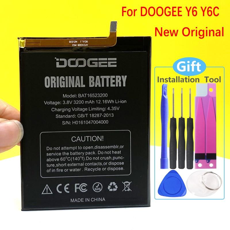 100% Original NEW Battery For Doogee Y6 Y 6 Y6C MTK6750 BAT16523200 3200mAh In Stock Mobile Phone Hi