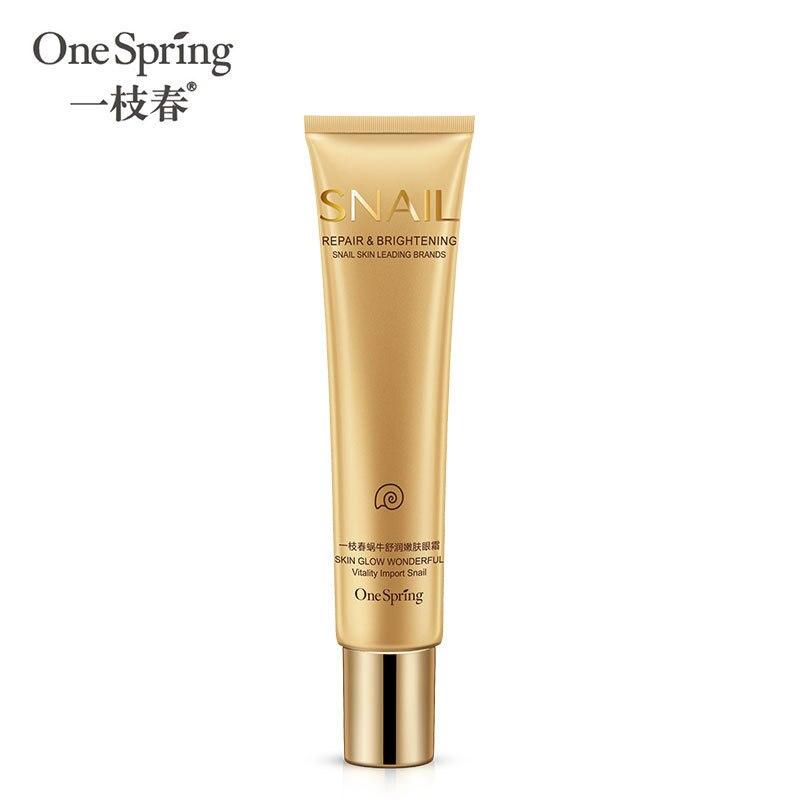 OneSpring Snail Extract Eye Cream Moisturizing Repair Repair Skin Dark Circle Wrinkle Removal Anti-P