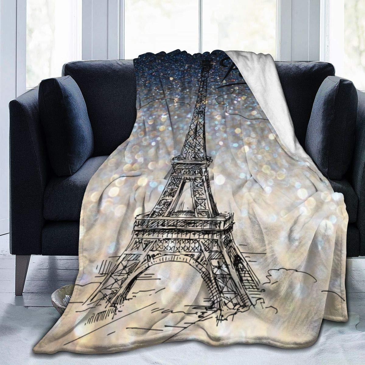 Paris-Manta de toalla de franela ultraligera, edredón acondicionador de aire de lujo...