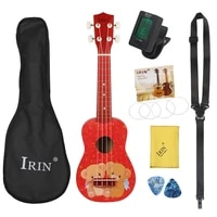 m mbat 21 inch ukulele hawaiian cute bear guitar musical instrument 4 strings basswood ukulele soprano mini guitar set gig bag