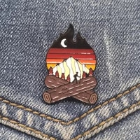 enamel pin alloy adventure match camping brooch backpack jacket hat clothes metal %e2%80%8bbadge lapel pin unique items jewelry gift