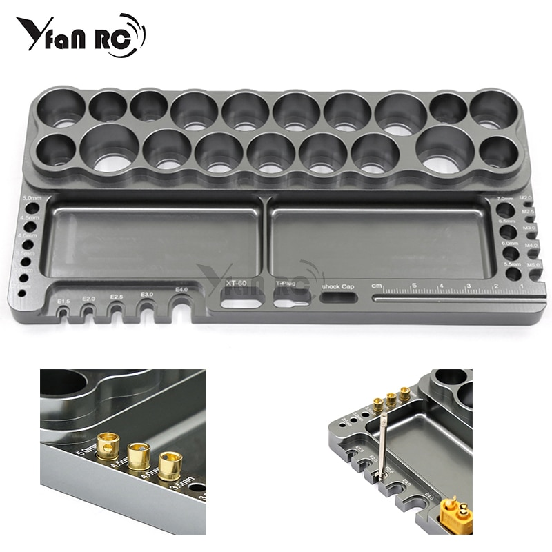 1 Pcs RC screwdriver repair tool shelf hex screwdriver kit holder tool rack storage 18 holes bracket key for all RC cars