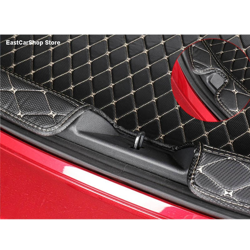 Car All Surrounded Rear Trunk Mat Car Boot Liner Tray Custom Protective Mat for Mazda 3 Axela 2019 2020 2021 Car Accessories enlarge