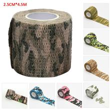 Elastic Self-Adhesive Bandage Non Woven Fabric Bandage Wrap Tape Sports First Aid Gauze Tape Camoufl