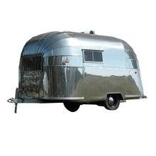 4m longueur airstream remorque restauration nourriture camion mobile hot dog chariot restauration rapide caravane mobile café