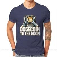 Bitcoin Cryptocurrency Art Dogecoin to the Moon Classic T Shirt Harajuku Punk High Quality Tshirt Loose O-Neck Short Sleeve
