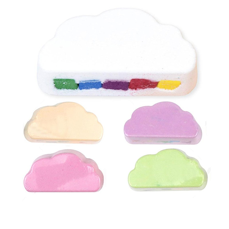 Rainbow Soap Cloud Bath Salt Moisturizing Exfoliating Cleaning Body Skin Bubble Bath Bombs Multicolor For Baby
