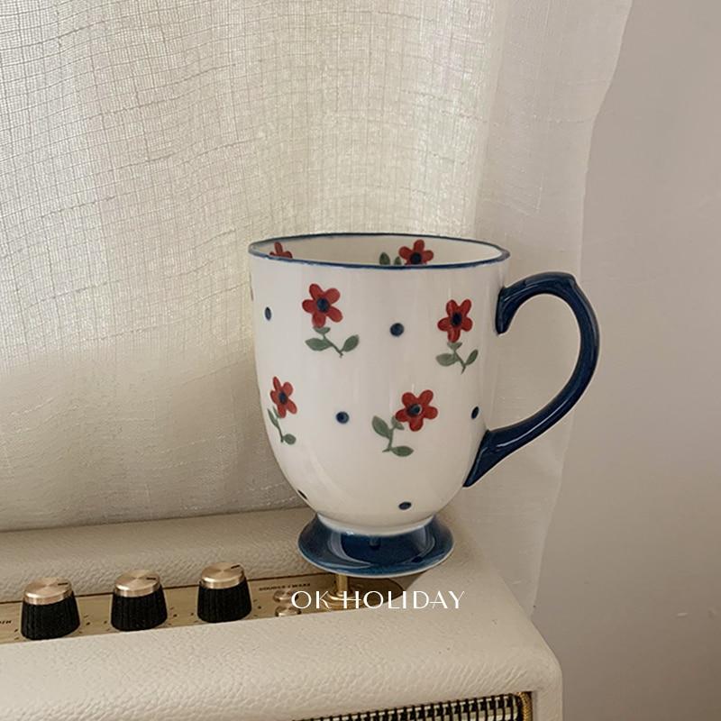 الحديث لطيف القهوة القدح زوجين الحليب كسر الحليب الشمال الفاخرة القدح الرجعية مكتب السيراميك أكواب الشرب Vaso درينكوير BK50MK