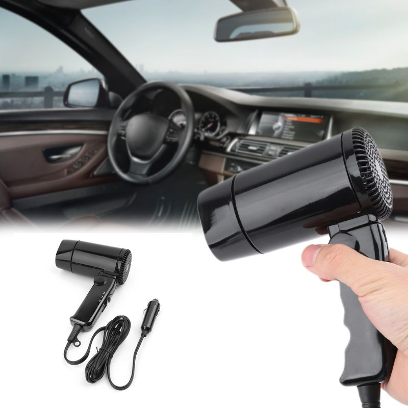 Drop ShiP Portable 12V Car-styling Hair Dryer Hot & Cold Folding Blower Window Defroster enlarge