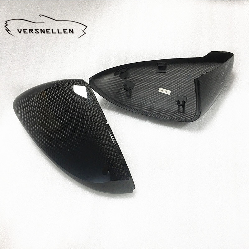 Tampas de espelho de carbono de golfe oem montagem espelho lateral capa para volkswagen golf mk7 touran 2014 2016 2017 1 1 substituição