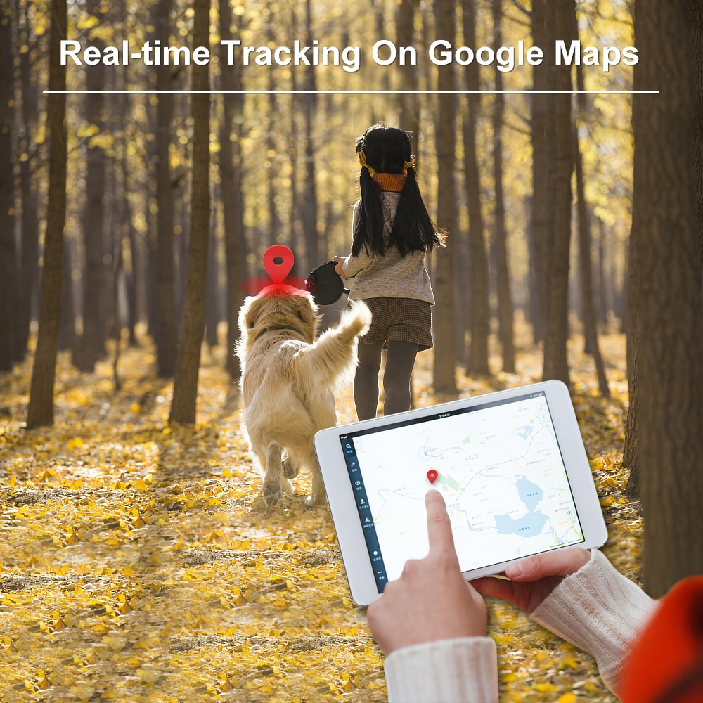 Dog GPS Tracker TK909 Waterproof IP65 Geofence Google Track GPS For Cat Collar Voice Monitor Mini GPS Locator For Dog FREE APP enlarge