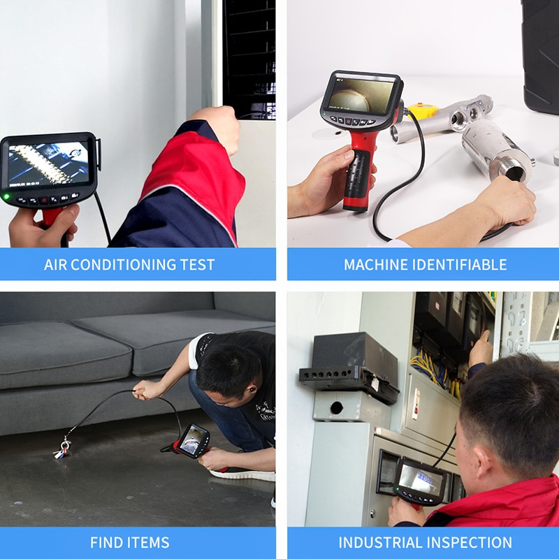 Handheld Endoscope 1080P 3.9mm 4.3 inch Industrial Inspection Camera with 6 LED IP67 Waterproof Borescope with 32GB TF Card