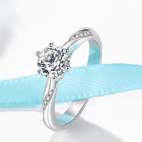 2021 fashion temperament silver 925 wedding rings for couples real diamond lovers luxurious fine jewelry for luxury gift rings