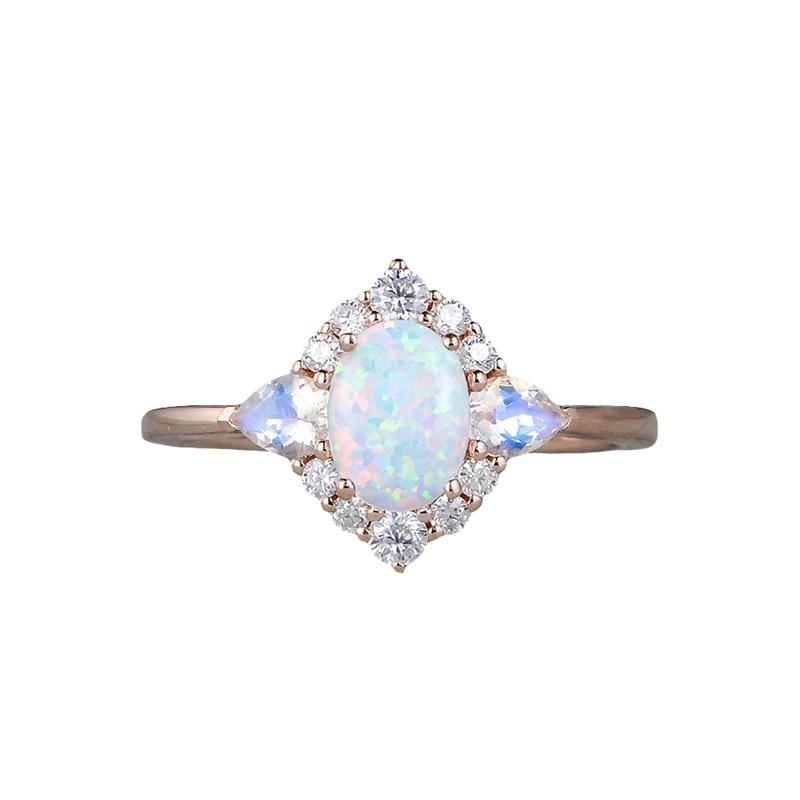 Anillos de perlas ovaladas para mujer, anillo Vintage de caracol, joyería de moda para fiestas chapada en plata antigua
