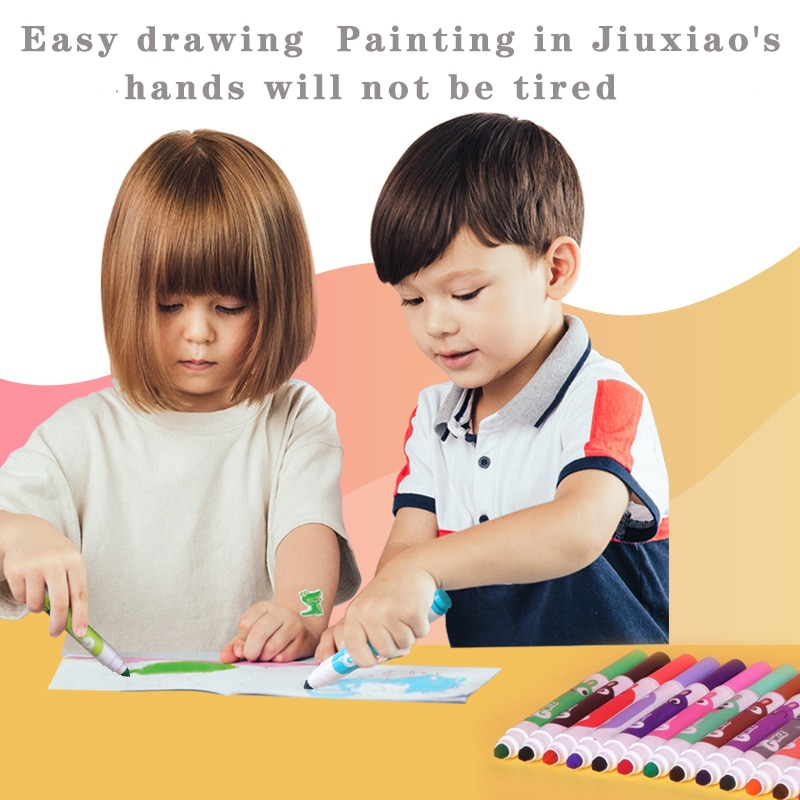 12-color Children Painting Set Kindergarten Kid Specific Safety Washable Drawing Crayons School Student Oil Pastel Art Supplies
