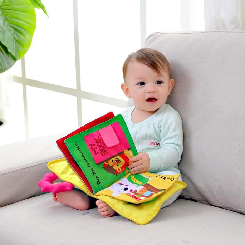 Juguetes Educativos para bebés, niños pequeños, desarrollo temprano, libros de tela, Educación Temprana, libros de iluminación Sensorial, juguetes para bebés