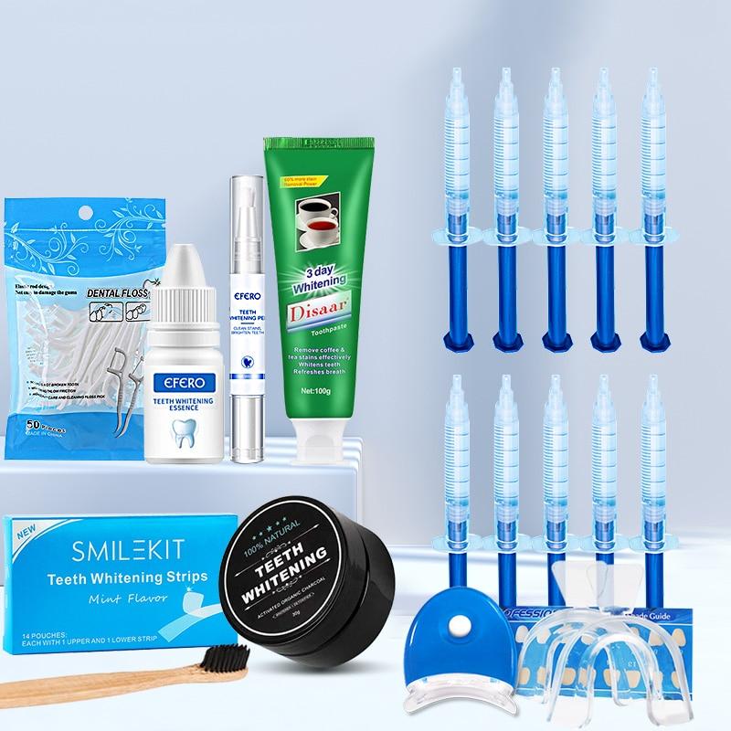 Dental Floss Picks Teeth Toothpicks Strips Whitening Toothpaste Toothbrush Powder Dental Whitening Pen Essence Gel Kit