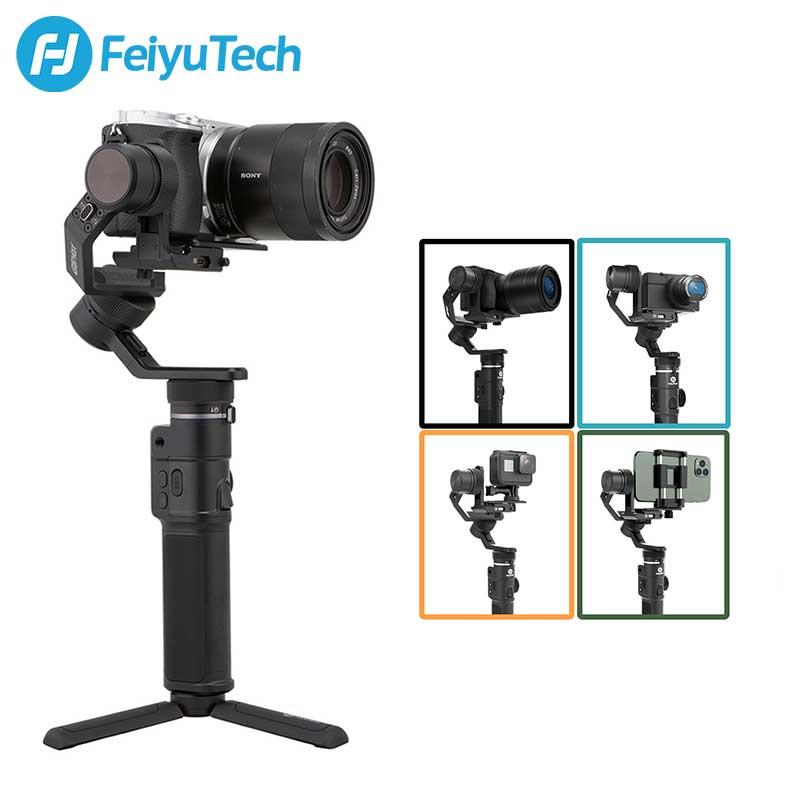 FeiyuTech 3-Axis G6 ماكس يده مثبت كاميرا Gimbal ل RX100 Ⅳ ل GoPro بطل 8 7 الهاتف الذكي لكانون EOSM50