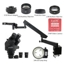 3.5X-90X Articulating Arm Clamp Trinocular Stereo Microscope Simul Focal 37MP HDMI USB Electronic Digital Microscope Camera Set