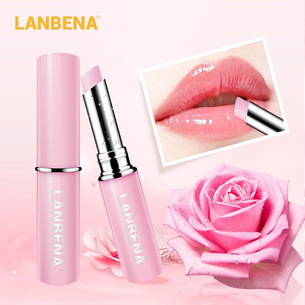 LANBENA Rose Chameleon Lip Balm Hyaluronic Acid Plumper Nourishing Moisturizer Reduce Fine Lines Relieve Dryness Makeup Lip Care недорого