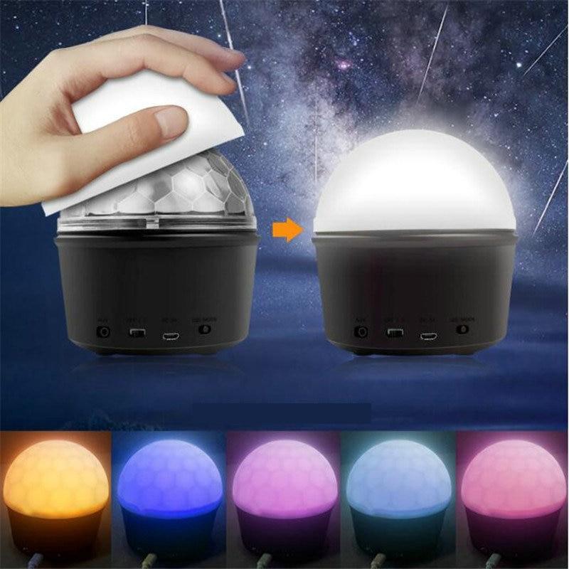 9 цвет Bluetooth динамик дискотека мяч музыка аудио беспроводной сцена свет ночь огни клуб портативный вечеринка ди-джей контроллер проектор