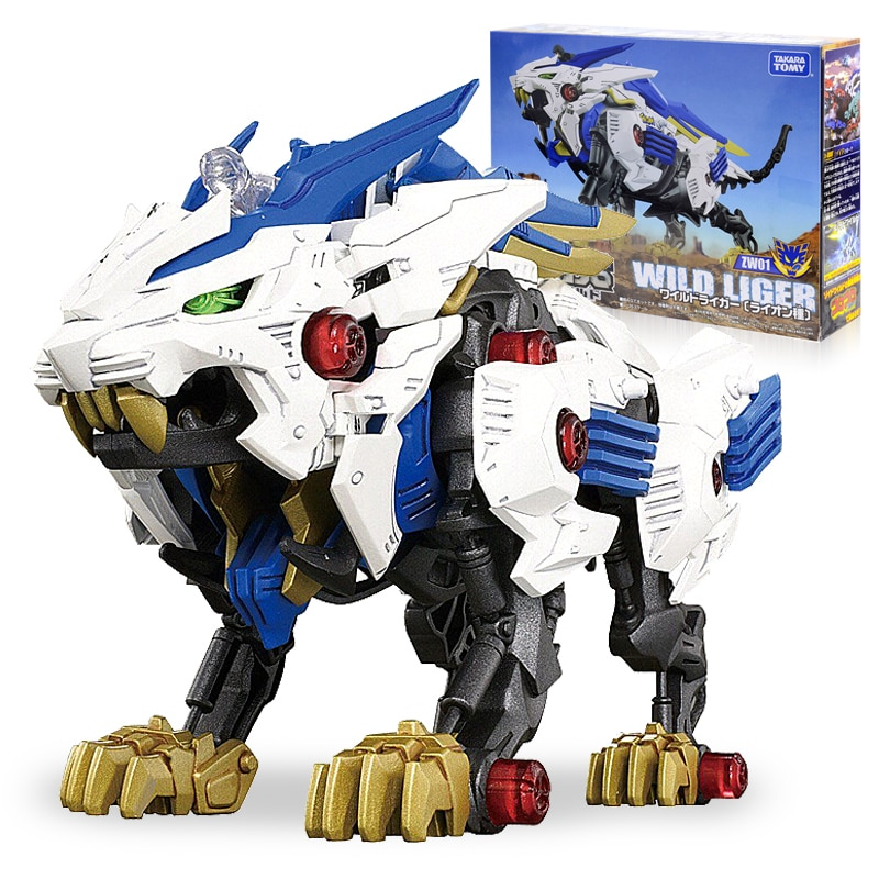 Takara Tomy Anime ZOIDS Wild Liger Robot Electronic Assembled Block Tiger Lion Animal Models Collectible Boy Children Toy Gift