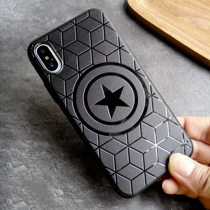 Marvel Avengers funda de silicona para Coque iPhone 11 Pro Max 6s 6 7 8 Plus X 10 X XS. XR cubierta suave Batman Ironman Spiderman Funda
