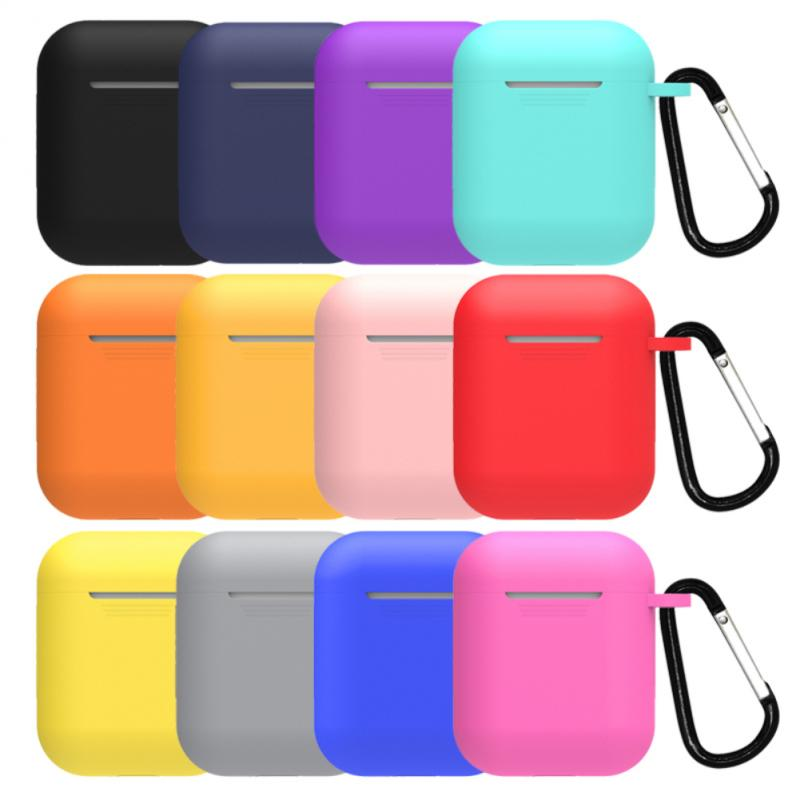 Mini Soft Silicone Case For Apple Airpods 1/2 Shockproof Cover For Apple AirPods 2/1 Earphone Cases for Air Pods Protector Case