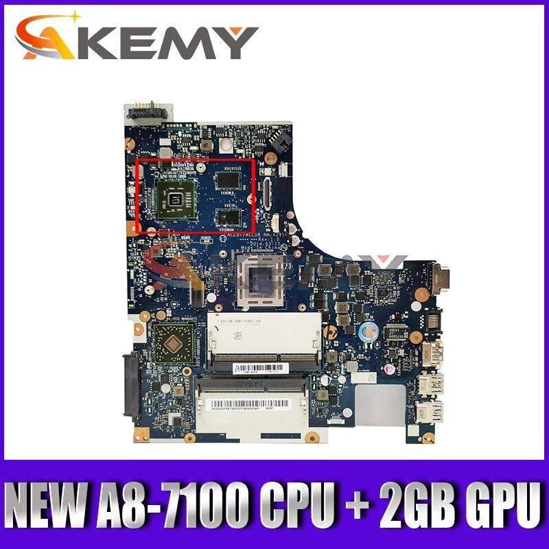 جديد NM-A291 اللوحة لينوفو Z50-75 G50-75M G50-75 G50-75M Laptop mainboard ACLU7/ACLU8 ( A8-7100 وحدة المعالجة المركزية + 2GB GPU)