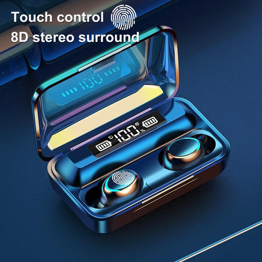 TWS Wireless Headsets Bluetooth 5.0 Earphones Smart Digital Display Headphone 9DStereo Sports Waterp