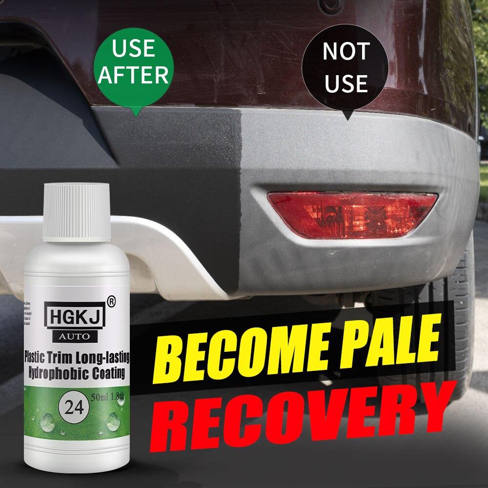 HGKJ Car Exterior Restorer Ceramic Trim Coating Kit Accessories Plastic Long-lasting Hydrophobic