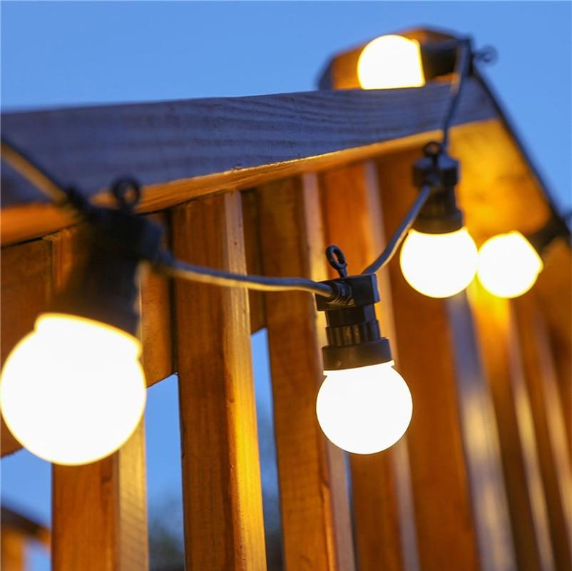 8M 13m  Led String Light Outdoor Fairy Lights Garland G50 Bulbs Garden Patio Wedding Christmas Decoration lamps Chain Waterproof