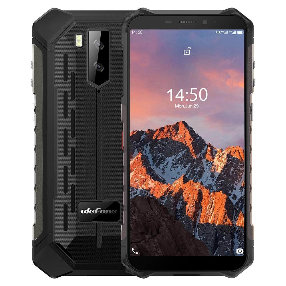 Перейти на Алиэкспресс и купить Ulefone Power X5 Pro Прочный Водонепроницаемый смартфон 4 Гб + 64 Гб Octa Core Android 10,0 сотового телефона NFC 4 аппарат не привязан к оператору сотовой связи мо...