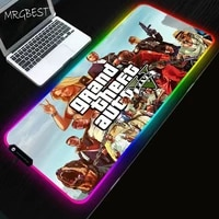 mrgbest large rgb game gta5 mouse pad non slip natural rubber lock edge v for csgo lol keyboard notebook pc mat