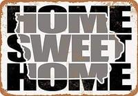 SRongmao     panneau metallique 8x12  maison douce  Iowa  gris